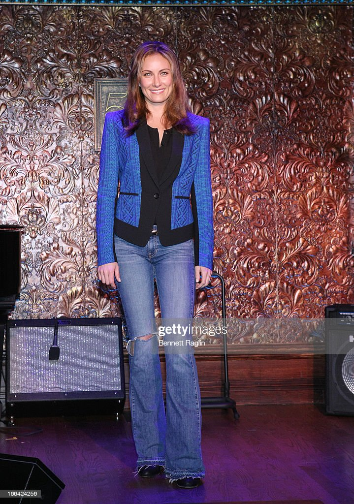 Actress Laura Benanti attends the Press Preview at 54 Below on April 12, 2013 in New York City.