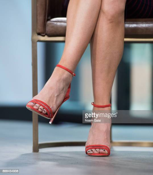 Actress Laura Benanti shoe detail visits Build Series to discuss 'Meteor Shower' and 'The Detour' at Build Studio on December 8 2017 in New York City
