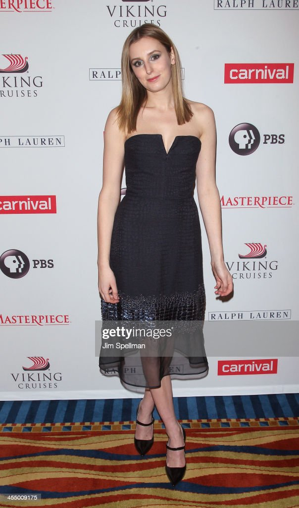 Actress <a gi-track='captionPersonalityLinkClicked' href=/galleries/search?phrase=Laura+Carmichael&family=editorial&specificpeople=7201392 ng-click='$event.stopPropagation()'>Laura Carmichael</a> attends 'Downton Abbey' Season Four cast photo call at Millenium Hotel on December 10, 2013 in New York City.