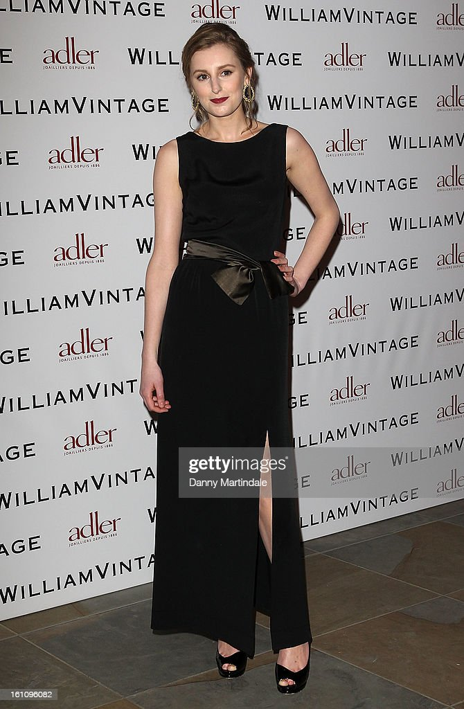 Actress Laura Carmichael attends the WilliamVintage Dinner Sponsored By Adler at St Pancras Renaissance Hotel on February 8, 2013 in London, England.