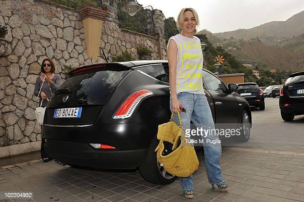 Actress Laura Chiatti arrives at the Taormina Film Fest 2010 on June 18 2010 in Taormina Italy