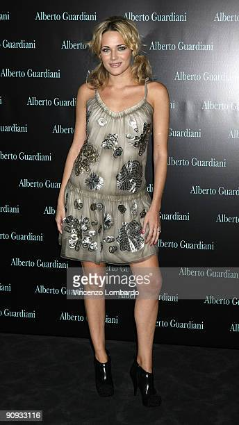 Actress Laura Chiatti attends the Alberto Guardiani Dance Chic Party on September 17 2009 in Milan Italy