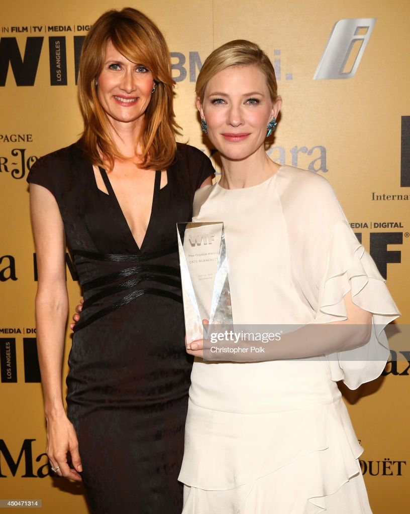 Actress <a gi-track='captionPersonalityLinkClicked' href=/galleries/search?phrase=Laura+Dern&family=editorial&specificpeople=204203 ng-click='$event.stopPropagation()'>Laura Dern</a> (L) and actress <a gi-track='captionPersonalityLinkClicked' href=/galleries/search?phrase=Cate+Blanchett&family=editorial&specificpeople=201621 ng-click='$event.stopPropagation()'>Cate Blanchett</a>, Crystal Award for Excellence in Film award recipient, attend Women In Film 2014 Crystal + Lucy Awards presented by MaxMara, BMW, Perrier-Jouet and South Coast Plaza held at the Hyatt Regency Century Plaza on June 11, 2014 in Los Angeles, California.