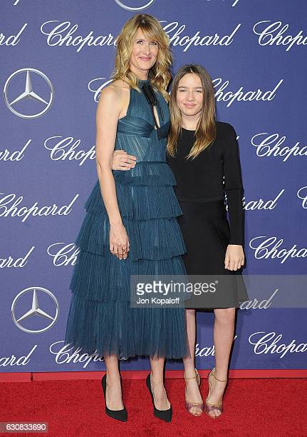 Actress Laura Dern and daughter Jaya Harper arrive at the 28th Annual Palm Springs International Film Festival Film Awards Gala at Palm Springs...