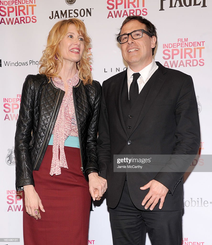 Actress Laura Dern (L) and director David O. Russell attend the 2013 Film Independent Spirit Awards After Party hosted by Microsoft Windows Phone at The Bungalow at The Fairmont Hotel on February 23, 2013 in Santa Monica, California.