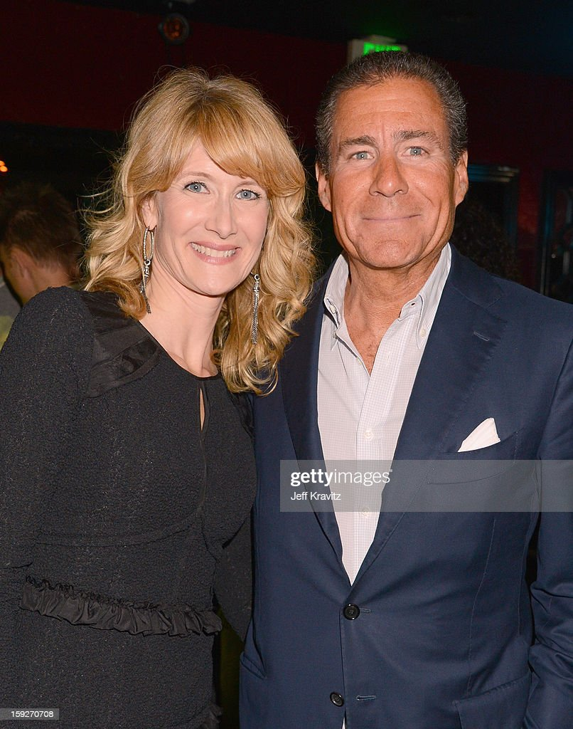 Actress Laura Dern and HBO CEO Richard Plepler attend the 'Enlightened' Season 2 Premiere presented by HBO at Avalon on January 10, 2013 in Hollywood, California.
