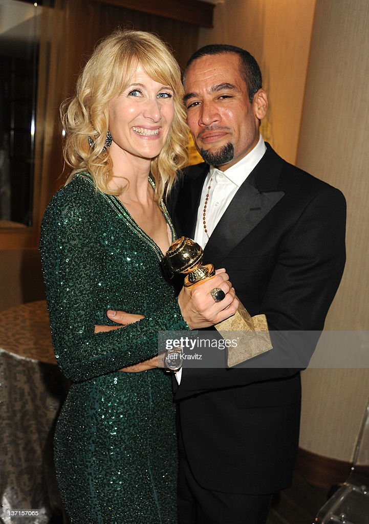 Actress Laura Dern and husband singer Ben Harper attend HBO's Official After Party for the 69th Annual Golden Globe Awards held at The Beverly Hilton...