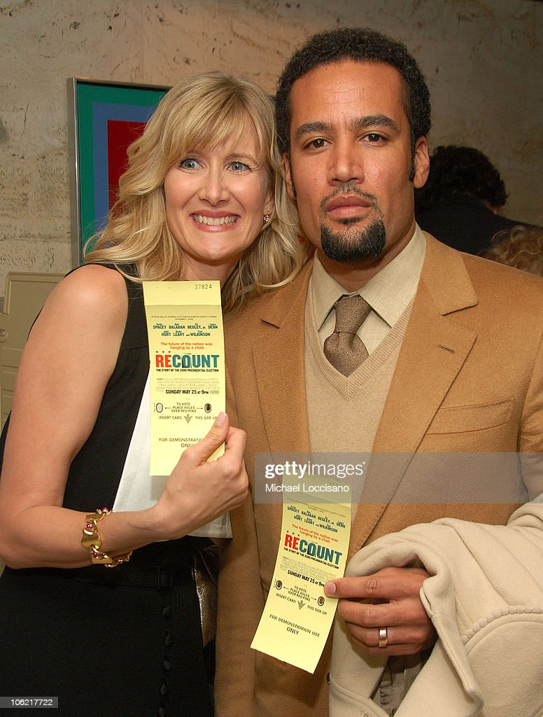 Actress Laura Dern and musician Ben Harper attend the after party for the New York premiere of HBO Films' 'Recount', at The Four Seasons Restaurant in New York City on May 13, 2008.