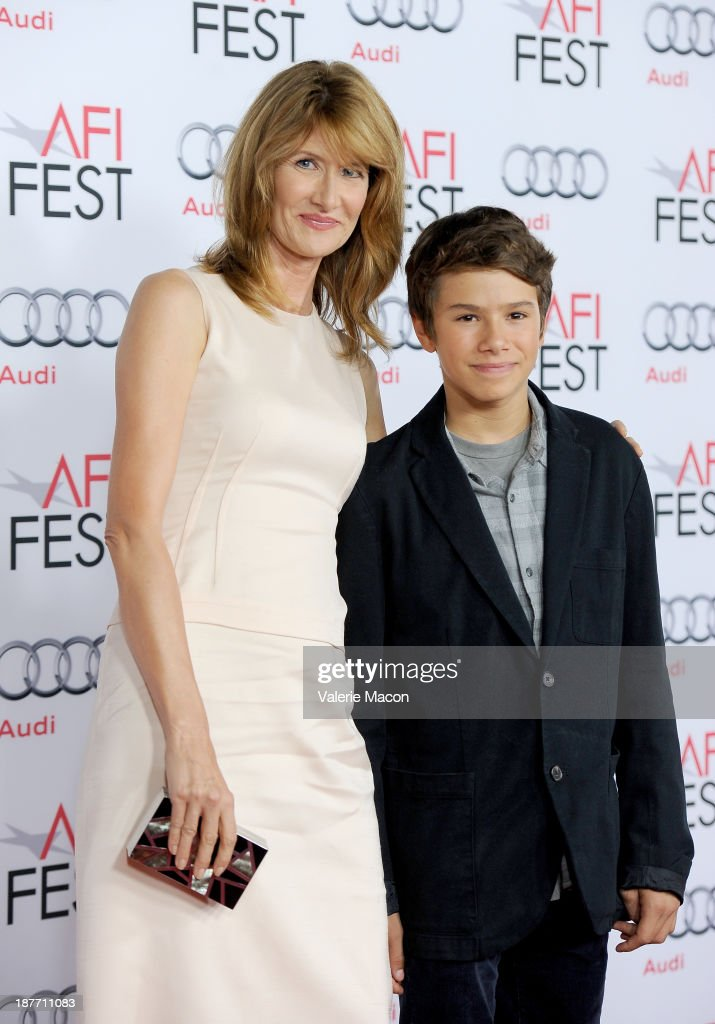 Actress <a gi-track='captionPersonalityLinkClicked' href=/galleries/search?phrase=Laura+Dern&family=editorial&specificpeople=204203 ng-click='$event.stopPropagation()'>Laura Dern</a> (L) and son Ellery Walker Harper attend the screening of 'Nebraska' during AFI FEST 2013 presented by Audi at TCL Chinese Theatre on November 11, 2013 in Hollywood, California.