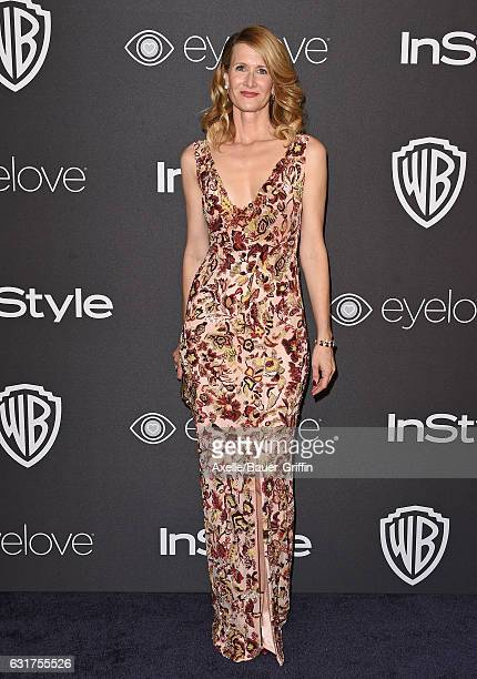 Actress Laura Dern arrives at the 18th Annual PostGolden Globes Party hosted by Warner Bros Pictures and InStyle at The Beverly Hilton Hotel on...