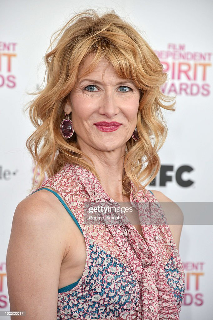 Actress Laura Dern arrives at the 2013 Film Independent Spirit Awards at Santa Monica Beach on February 23, 2013 in Santa Monica, California on February 23, 2013 in Santa Monica, California.