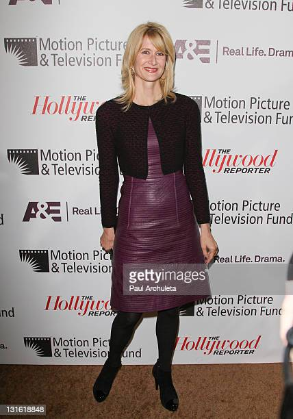 Actress Laura Dern arrives at the Motion Picture Television Fund's 'Reel Stories Real Lives' at Milk Studios on November 5 2011 in Hollywood...