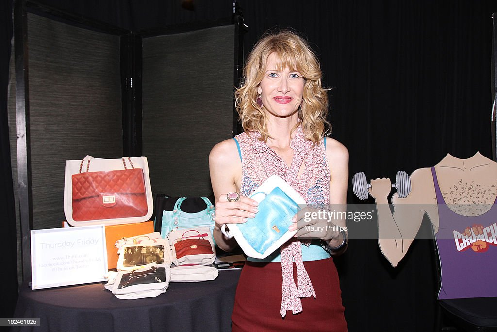 Actress <a gi-track='captionPersonalityLinkClicked' href=/galleries/search?phrase=Laura+Dern&family=editorial&specificpeople=204203 ng-click='$event.stopPropagation()'>Laura Dern</a> attends the On3 Official Presenter Gift Lounge during the 2013 Film Independent Spirit Awards at Santa Monica Beach on February 23, 2013 in Santa Monica, California.