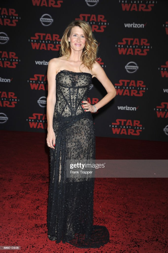 Actress Laura Dern attends the premiere of Disney Pictures and Lucasfilm's 'Star Wars: The Last Jedi' held at The Shrine Auditorium on December 9, 2017 in Los Angeles, California.