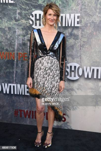 Actress Laura Dern attends the world premiere of the Showtime limitedevent series 'Twin Peaks' May 19 2017 at the Ace Hotel in Los Angeles California...