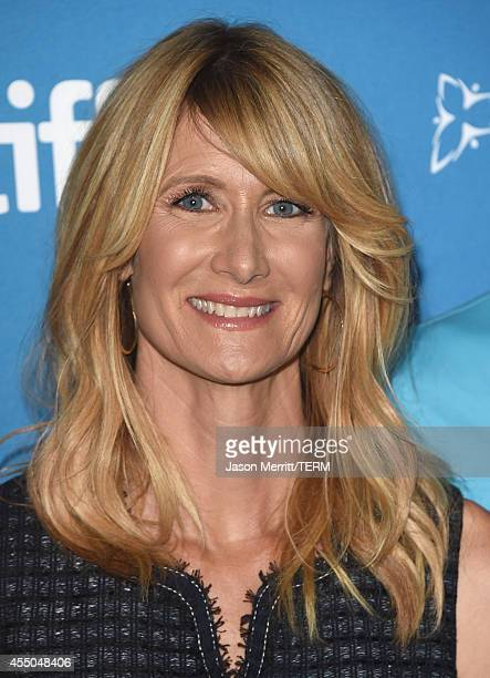 Actress Laura Dern poses during the '99 Homes' Press Conference during the 2014 Toronto International Film Festival at TIFF Bell Lightbox on...