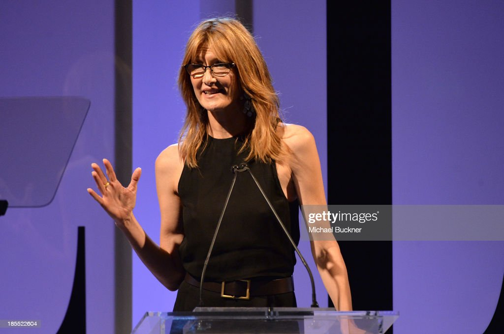 Actress <a gi-track='captionPersonalityLinkClicked' href=/galleries/search?phrase=Laura+Dern&family=editorial&specificpeople=204203 ng-click='$event.stopPropagation()'>Laura Dern</a> speaks onstage at ELLE's 20th Annual Women In Hollywood Celebration at Four Seasons Hotel Los Angeles at Beverly Hills on October 21, 2013 in Beverly Hills, California.
