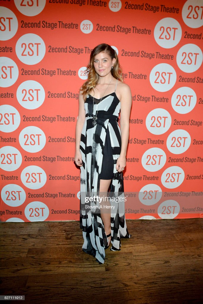 Actress Laura Dreyfuss attends 'Dear Evan Hansen' opening night after party at John's Pizzeria on May 1, 2016 in New York City.