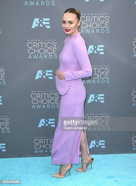 Actress Laura Haddock attends The 21st Annual Critics' Choice Awards at Barker Hangar on January 17 2016 in Santa Monica California