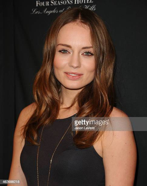 Actress Laura Haddock attends the BAFTA LA 2014 awards season tea party at Four Seasons Hotel Los Angeles at Beverly Hills on January 11 2014 in...
