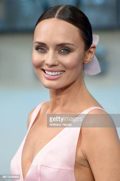 Actress Laura Haddock attends the global premiere of 'Transformers The Last Knight' at Cineworld Leicester Square on June 18 2017 in London England