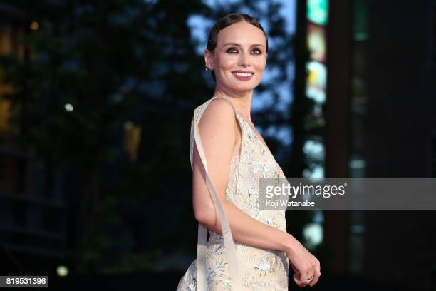 Actress Laura Haddock attends the Japanese premiere of 'Transformers The Last Knight' at TOHO Cinemas Shinjuku on July 20 2017 in Tokyo Japan