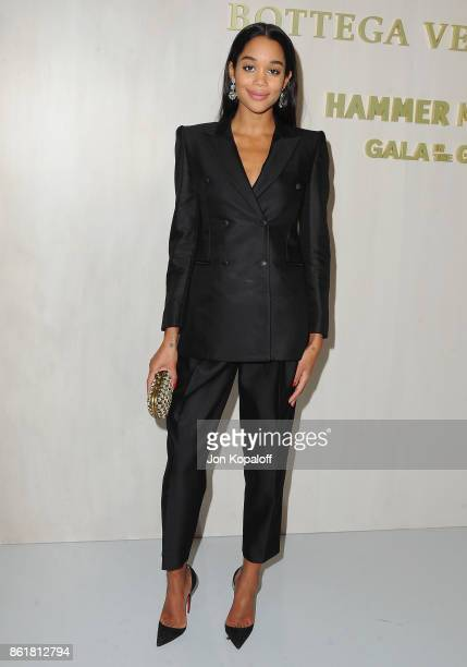 Actress Laura Harrier arrives at the Hammer Museum Gala In The Garden at Hammer Museum on October 14 2017 in Westwood California