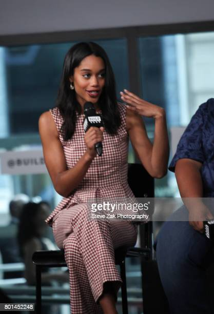 Actress Laura Harrier attends Build Series to discuss her role in 'SpiderMan Homecoming' at Build Studio on June 26 2017 in New York City