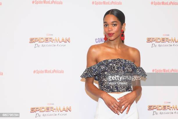 Actress Laura Harrier attends CONQUE to promote the new film 'SpiderMan Homecoming' at Centro De Congresos De Queretaro on May 6 2017 in Queretaro...