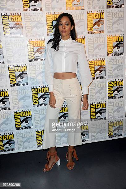 Actress Laura Harrier attends the Marvel Studios presentation during ComicCon International 2016 at San Diego Convention Center on July 23 2016 in...