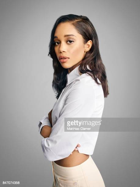 Actress Laura Harrier from 'SpiderMan Homecoming' is photographed for Entertainment Weekly Magazine on July 23 2016 at Comic Con in the Hard Rock...