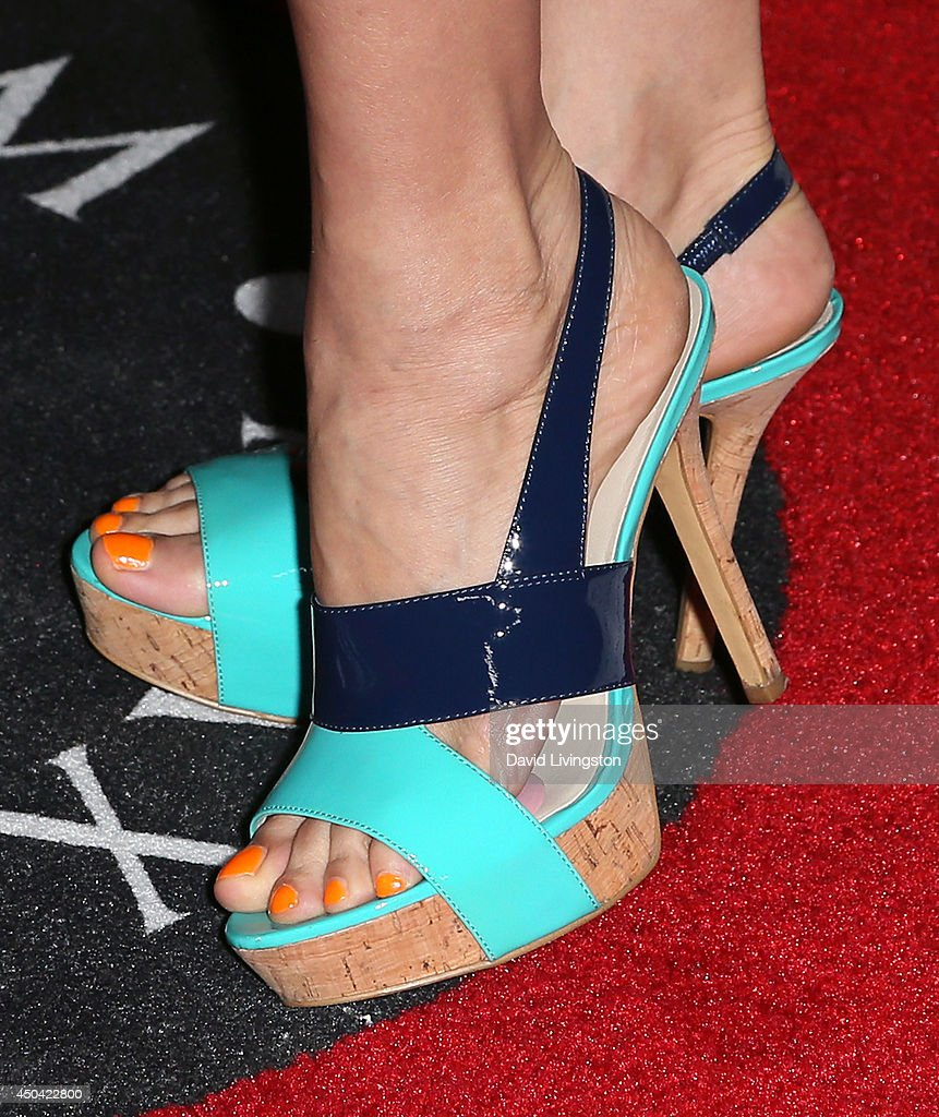 Actress Laura Harring (shoe detail) attends the Maxim Hot 100 event at the Pacific Design Center on June 10, 2014 in West Hollywood, California.