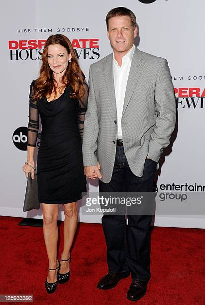 Actress Laura Leighton and husband actor Doug Savant arrive at Disney ABC Television Group Hosts 'Desperate Housewives' Final Season KickOff Party on...