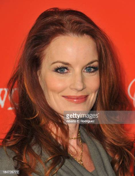 Actress Laura Leighton attends a screening of ABC Family's 'Pretty Little Liars' Halloween episode at Hollywood Forever Cemetery on October 15 2013...