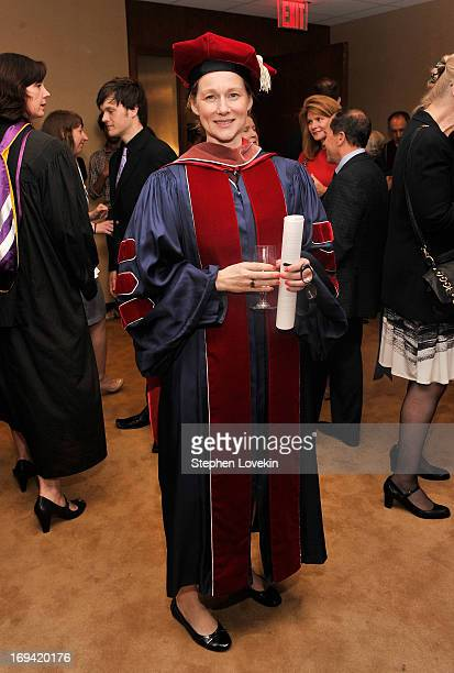 Actress Laura Linney attends Juilliard's 108th Commencement Ceremony at Lincoln Center on May 24 2013 in New York City