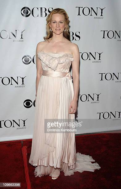 Actress Laura Linney attends the 62nd Annual Tony Awards at Radio City Music Hall on June 15 2008 in New York City