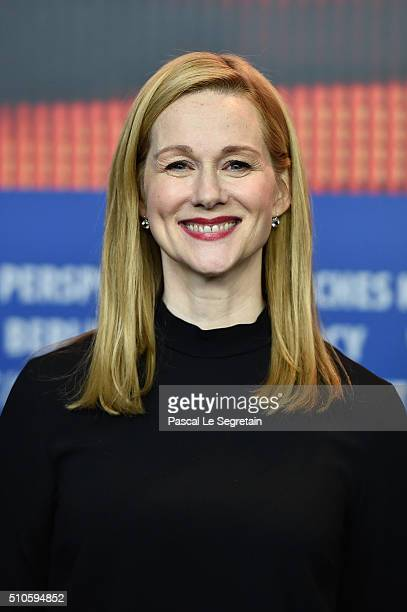 Actress Laura Linney attends the 'Genius' press conference during the 66th Berlinale International Film Festival Berlin at Grand Hyatt Hotel on...