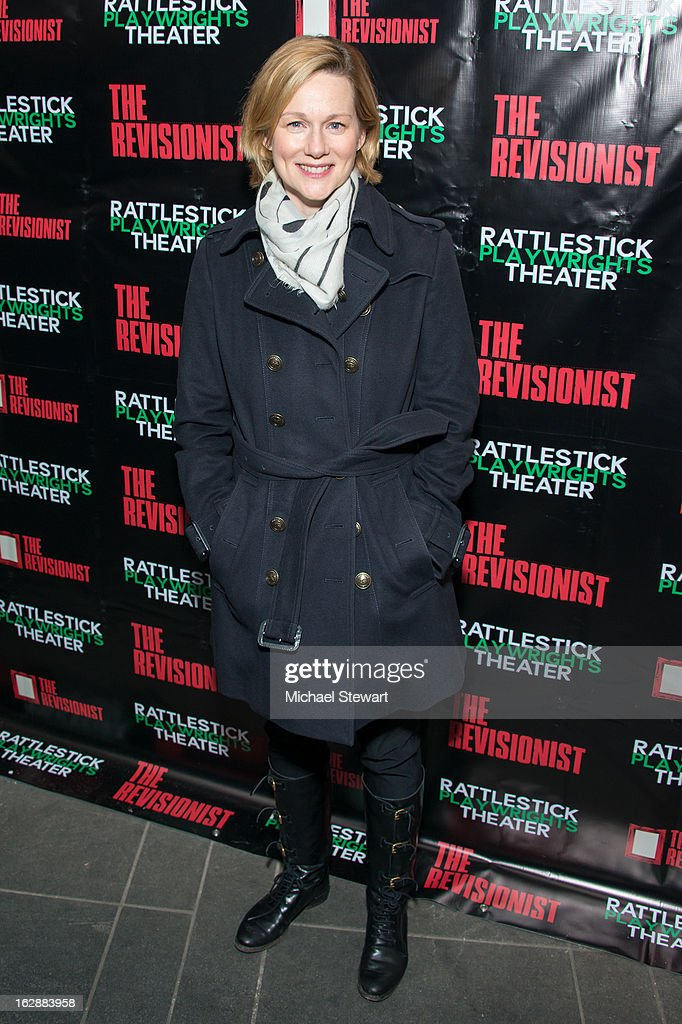 Actress Laura Linney attends 'The Revisionist' Opening Night at Cherry Lane Theatre on February 28, 2013 in New York City.