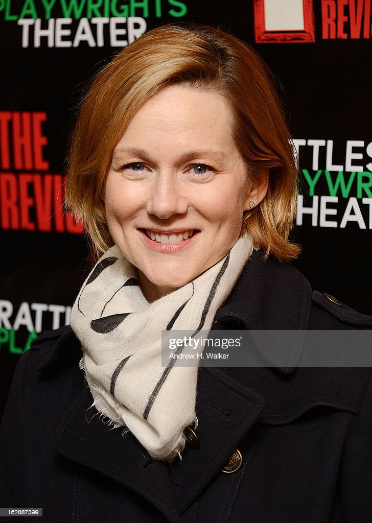 Actress <a gi-track='captionPersonalityLinkClicked' href=/galleries/search?phrase=Laura+Linney&family=editorial&specificpeople=171603 ng-click='$event.stopPropagation()'>Laura Linney</a> attends 'The Revisionist' opening night at Cherry Lane Theatre on February 28, 2013 in New York City.