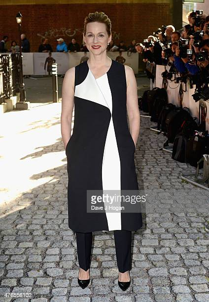 Actress Laura Linney attends the UK Premiere of 'Mr Holmes' at the Odeon Kensington on June 10 2015 in London England