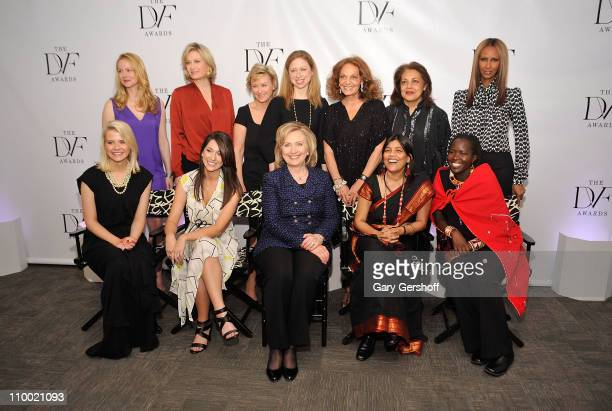 Actress Laura Linney news anchor Diane Sawyer The Daily Beast and Newsweek editorinchief Tina Brown Chelsea Clinton designer Diane von Furstenberg...