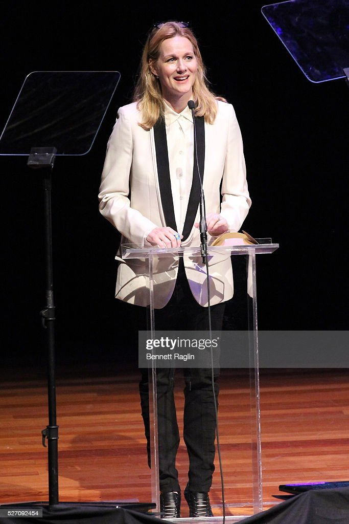 Actress <a gi-track='captionPersonalityLinkClicked' href=/galleries/search?phrase=Laura+Linney&family=editorial&specificpeople=171603 ng-click='$event.stopPropagation()'>Laura Linney</a> speaks onstage during the 31st Annual Lucille Lortel Awards at NYU Skirball Center on May 1, 2016 in New York City.