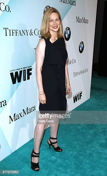 Actress Laura Linney wearing Max Mara attends the Women In Film 2015 Crystal Lucy Awards Presented by Max Mara BMW of North America and Tiffany Co at...