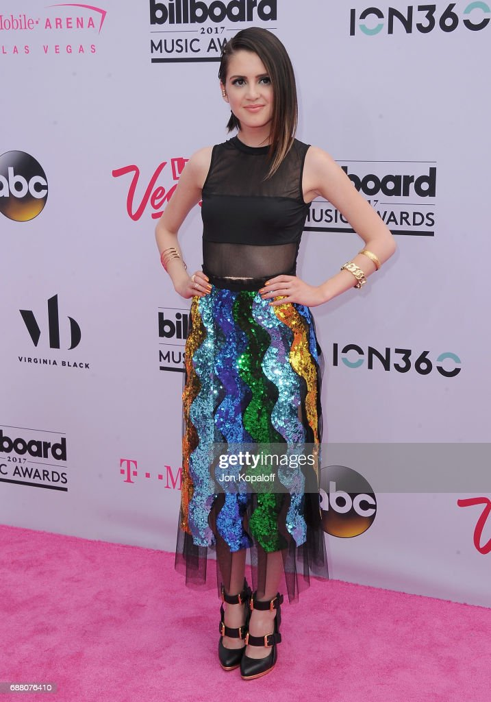 actress laura marano arrives at the 2017 billboard music awards at t mobile arena on