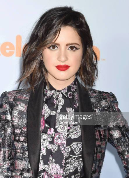 Actress Laura Marano arrives at the Nickelodeon's 2017 Kids' Choice Awards at USC Galen Center on March 11 2017 in Los Angeles California