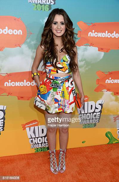 Actress Laura Marano attends Nickelodeon's 2016 Kids' Choice Awards at The Forum on March 12 2016 in Inglewood California