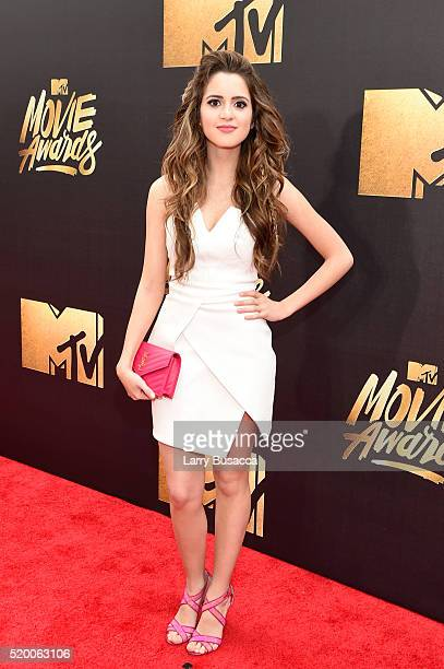 Actress Laura Marano attends the 2016 MTV Movie Awards at Warner Bros Studios on April 9 2016 in Burbank California MTV Movie Awards airs April 10...