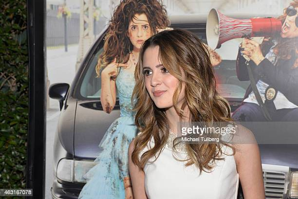 Actress Laura Marano attends the Los Angeles premiere of the Disney Channel Original Movie 'Bad Hair Day' at Walt Disney Studios on February 10 2015...