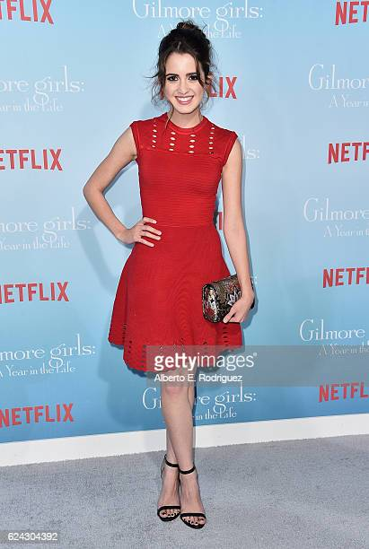 Actress Laura Marano attends the premiere of Netflix's 'Gilmore Girls A Year In The Life' at the Regency Bruin Theatre on November 18 2016 in Los...