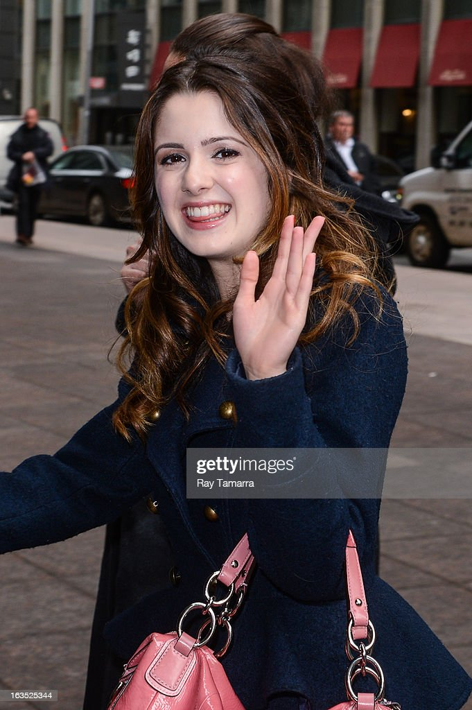 Actress Laura Marano enters the Sirius XM Studios on March 11, 2013 in New York City.